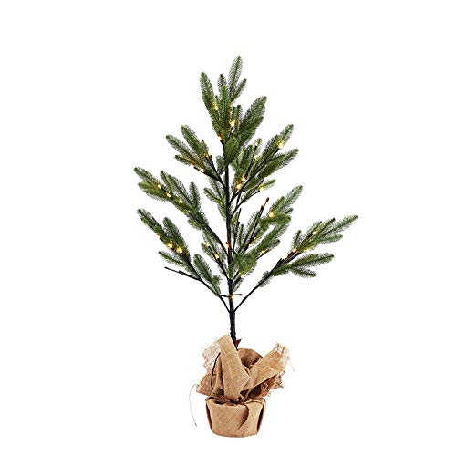 36 inch Multi-Function Christmas Tree with 64 Warm White LED Lights, pine needles mini Christmas tree lights Party, Indoor, Home Holiday Decoration, Gift for Boys, Girls & Kids
