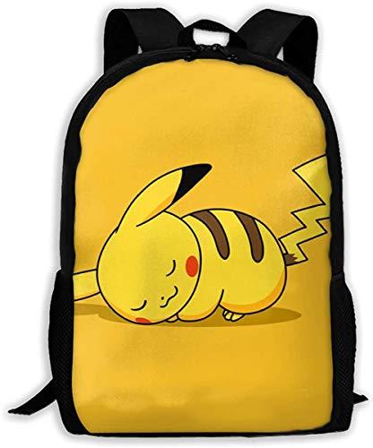 XWXBB Mochila de Pikachu personalizable Bolsa de hombro Bolsa de viaje Mochila de día Regalo