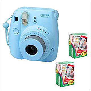 FujiFilm Instax Mini 8 Blue and Two Packs Instax Mini Film (10 Per Pack)