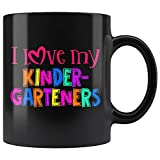 NA Taza de I Love My Kinder-Graders para Maestra de jardín de Infantes, Regalo para Maestra de prekínder, Taza de té de 11 oz para el día de apreciación del Maestro