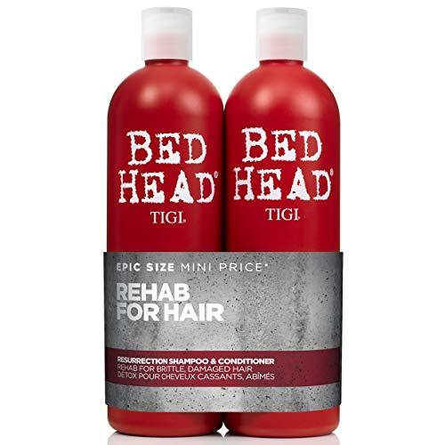 Bed Head by Tigi Urban Antidotes Resurrection Shampoo und Conditioner für geschädigtes Haar, 750ml, 2Stück