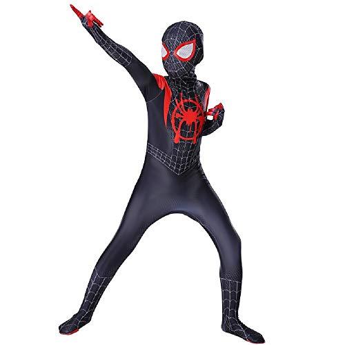 Disfraz de hombre araa - hombre araa negro - nio - nuevo universo - 4/6 aos - vestido - nio - carnaval - nuevo modelo - pelcula - regreso a casa - idea de regalo original spiderman homecoming