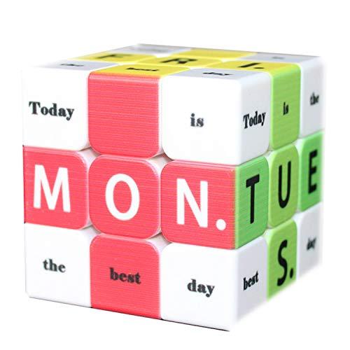 WeeLion Speed Cube 3x3x3 Time Timer Cube Toy - Juguete Educativo con Forma de Cubo Grabado con impresión en 3D como Regalo