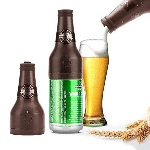 AUZZO HOME Beer Bubbler für Canned, Tragbarer Ultraschall-Bier bubblerKann für 3,5-4 Stunden verwendet Werden Geeignet für Family Party Carnival Bars, 2 * AAA-Batterien,Braun
