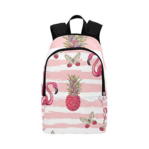 DKGFNK XL Backpack Popular Summer Pink Cool Cute Flamingo Durable Water Resistant Classic Ladies Daypack Best Bookbag Kid Sport Bag Canvas Daypack for Women