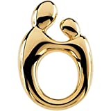 14k Yellow Gold Mother & Child Pendant (SMALL/PETITE SIZE)