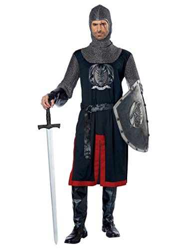 California Costumes Men's Dragon Knight-Adult Costume, Black/RED, Large/Extra Large