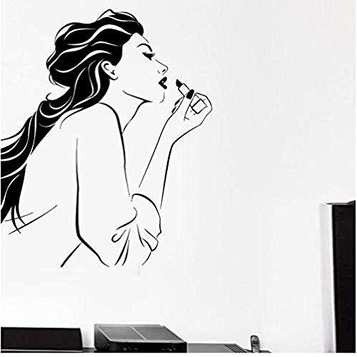 Wandaufkleber Aufkleber Tragen Lippenstift Home Decoration Wandkunst Dekor Papier Wandbild Für Wohnzimmer Schlafzimmer 51X42Cm