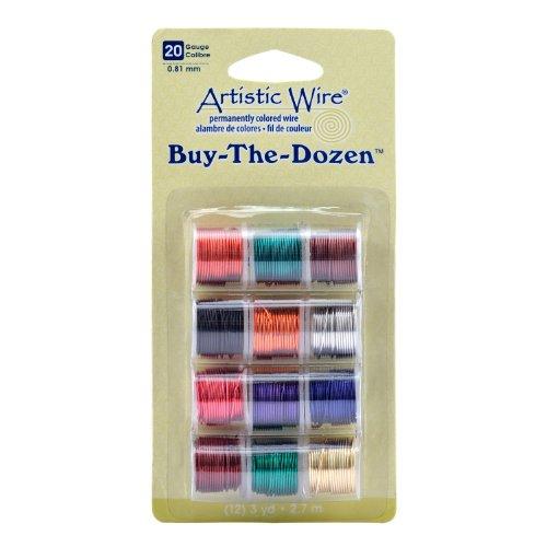Price comparison product image Beadalon AWP-20-BTD Artistic Wire 20-Gauge Buy-The-Dozen,  12-Pack