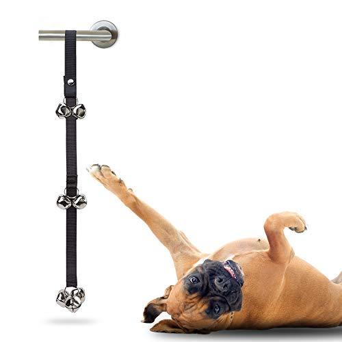 MASCRETTA Timbre para Perro con diseño Ajustable Ideal para adiestramiento canino. Campana para Mascotas Perfecto para enseñar a tu Mascota a IR al baño. Baño para Perro/Puerta para Perro