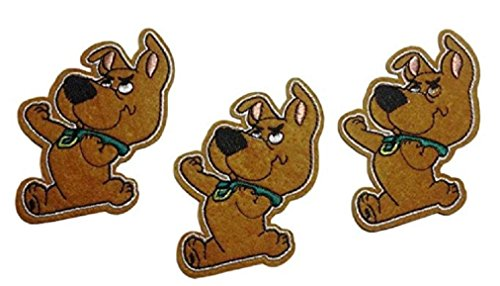 Scrappy-Doo Scooby-Doo the Dog 3 Inch Tall Iron on Set of 3 Patches