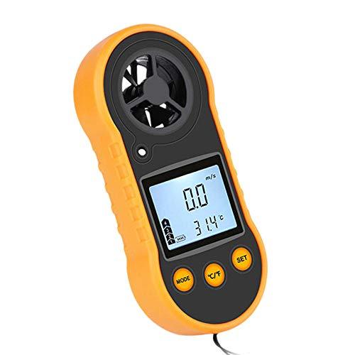 DINAER Anemometers Anemometer LCD Digital Wind Speed Meter Portable Anemometer Sensor Wind Speed 0-30M/S Wind Meter-Black