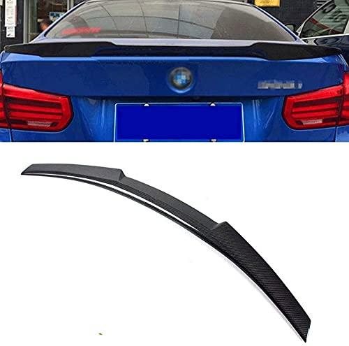 SIOM Spoiler M4 Style E90 Spoiler Wings Fibra De Carbono Real E90 Car Rear Trunk Spoiler Wings Montado para BMW E90 325I 328I 3 Series Sedan 2006-2011 Lip Spoiler Strips (Color