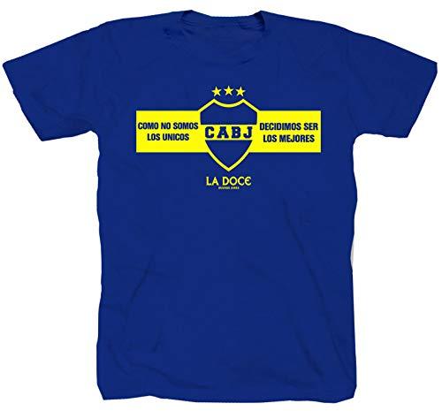 Boca Juniors Los Ultra Fankurve Ultras Pyro Barra Bravas - Camiseta de fútbol, color azul azul real XXL