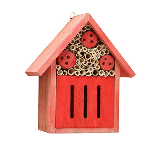 CasaJame Insektenhotel rot 17x8x20cm aus Holz