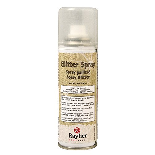 Rayher - 3400106 - Glitter-Spray, 125 ml, gold