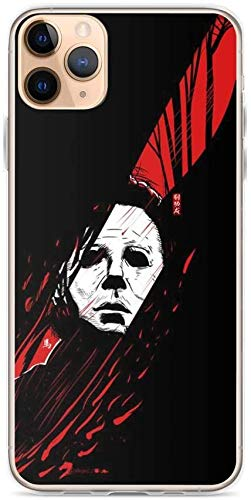 Aupek iPhone Case Pure Clear Case Transparant Zachte TPU Beschermende Cover Myers Wapen Chef Mes Rood Horror, iPhone 11 Pro