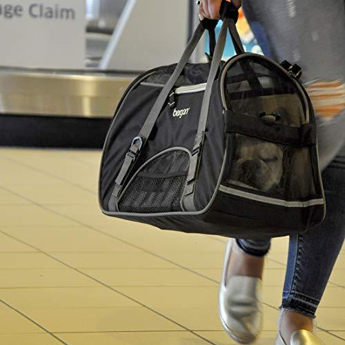 Bergan Comfort Carrier - Black & Grey- Large, Black/grey