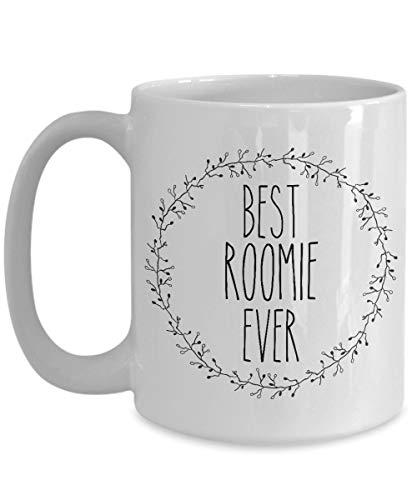 Best Roomie Ever Mug - Minimalist Coffee Cup - College Roommate (11oz, white)