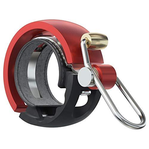 Knog Fahrradklingel Oi Luxe Small, 22,2 mm, Schwarz Rot, 1212KN