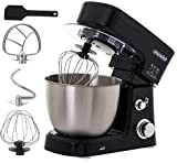 Robot de cuisine | 1200 W | 6 vitesses | 3,5 l | Malaxeur | Robot pâtissier | Pétrisseur