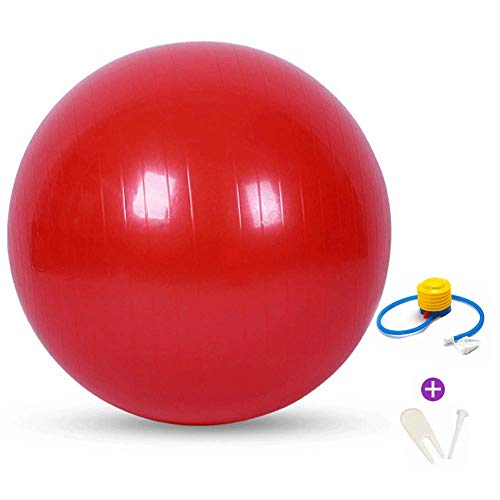 Best Deals! YKXIAOYU Exercise Ball Anti-Burst Core with Pump & Manual for Yoga, Balance, Workout, Fitness,red,68cm