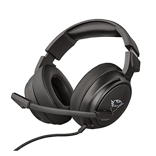Trust Cuffie Gaming GXT 433 Pylo con Microfono a Scomparsa, Driver da 50 mm, 3.5 mm Jack, Filo, Over Ear, per PS4, PS5, Xbox Series X, PC, Xbox One, Switch, Nero