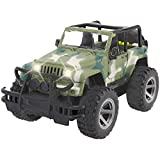 Liberty Imports Off-Road Friction Powered Military Armored Toy Car - Realistic Wrangler Kids Vehicle with Lights and Sounds