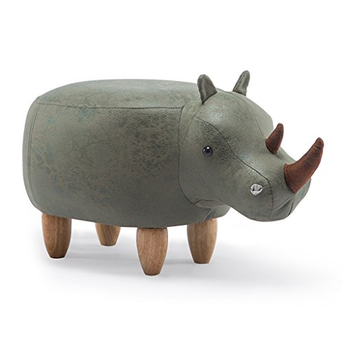 PLL Cartoon Creatieve Rhinoceros kruk massief hout schoenen bank Hall kruk mode kruk groen