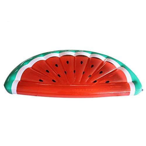 TYUXINSD Licht Schwimmbad schwimmende Bett aufblasbare Wassermelone schwimmende Reihe Wasser Freizeit Unterhaltung Aufblasbare Bett Verdickung PVC Floating Bett 180x90x20cm Airbetten & Schlauchboden