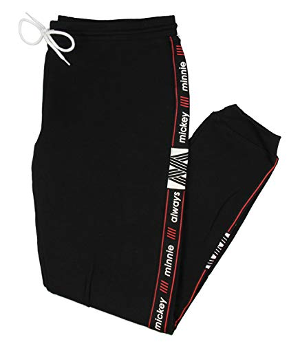 Disney Minnie and Mickey Always Joggers for Men and Women (Large) Black