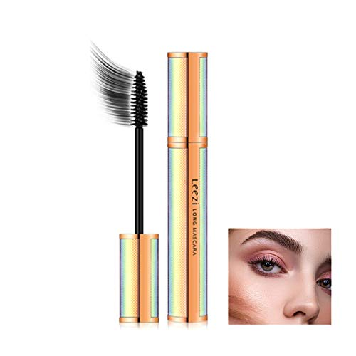 4D Silk Fiber Black Lash Mascara 3D Effect Waterproof&Smudge-Proof Natural Extension Lashes Thicker Long-Lasting for All Day Exquisitely Long