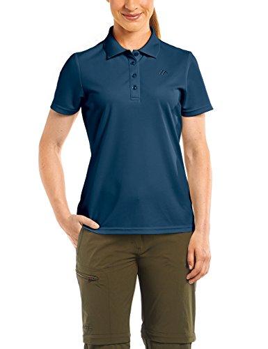 MAIER SPORTS Damen Polo Ulrike T-shirt,Blau (aviator), Gr. 48