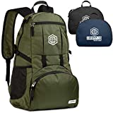 Traveling Backpack- Foldable collapsible lightweight backpack for travel (Green)