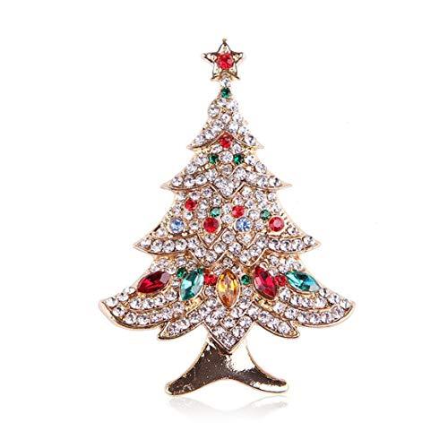 #NA Estilo Simple Aleación Forma de árbol de Navidad Broche Galjanoplastia Árbol de Navidad Broche Regalo de decoración de Navidad