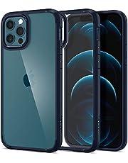 Spigen Ultra Hybrid hoesje Compatibel met iPhone 12 en Compatibel met iPhone 12 Pro -Navy Blue