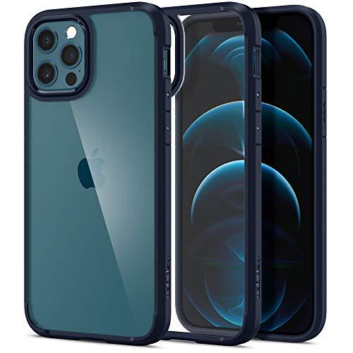 Spigen Funda Ultra Hybrid Compatible con iPhone 12 y Compatible con iPhone 12 Pro - Azul Marino