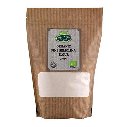 Harina de sémola fina orgánica 2kg de Hatton Hill Organic