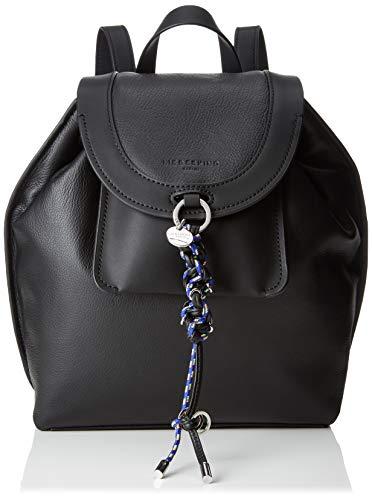 Liebeskind Berlin Damen Scouri Backpack Medium Rucksackhandtasche, Schwarz (Black), 13x27x23 cm