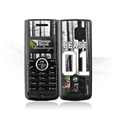 DeinDesign Folie kompatibel mit Sony Ericsson J120i Aufkleber Skin aus Vinyl-Folie Beast Paerchen Hülle Partner Handyhülle