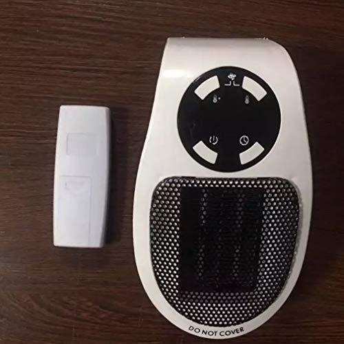 500W Portátil eléctrico calentador eléctrico mini estufa de fans de escritorio de la pared de la cocina conveniente estufa de calefacción radiador máquina de calentador dual control remoto mecánico