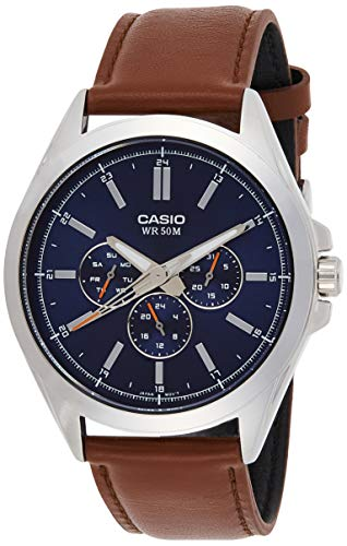 Casio MTP-SW300L-2AV Men's Precisionist Stainless Steel Sweep Second Hand Multifunction Watch