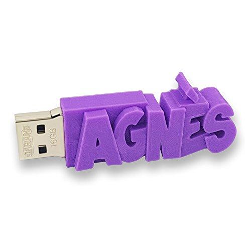 Chiavetta USB personalizzata con il tuo testo – il colore di tua scelta – USB 3.0 – 8 Go, 16 Go o 32 Go – un regalo originale e unico (8 GB, Porpora)