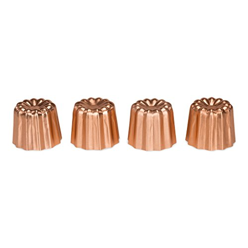 patisse 4010 Canelé Formen (4er Set), Aluminium, Kupfer