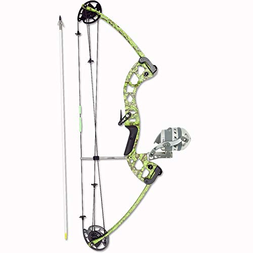 Muzzy Bowfishing Vice Bowfishing Kit with Compound Bow, Pre-Spooled Reel, Arrow Rest and Arrow – Right Hand