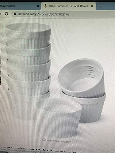 6 OZ Ramekin Bowls 8 PCS,Bakeware Set for Baking and Cooking