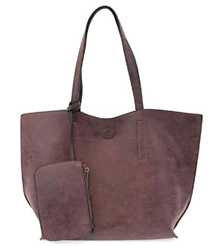 Joy Susan Carly Brushed Reversible Tote (Aubergine Charcoal)