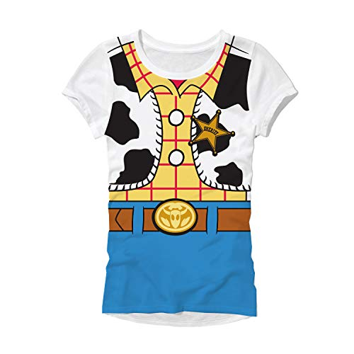 Toy Story Woody Costume Juniors T-Shirt (Medium, Woody)