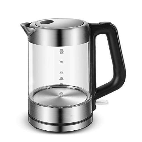 SMEJS Glass Electric Kettle | Free with Borosilicate Glass & Stainless Steel - 1.8 Liter Rapid Boil Cordless Teapot with Automatic Shut Off - the Best Hot Water Heater for Tea, Coffee, Soup, and More
