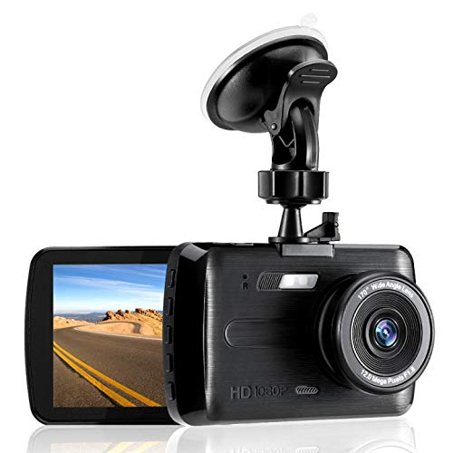 Dash Cam, 1080P FHD DVR Car Driving Recorder 3.5 Inch LCD Screen 170° Wide Angle Dash Camera WDR Night Vision G-Sensor Camcorders with Automatic Loop Recording Motion Detection